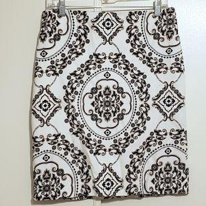WHBM Regency Medallion Print Pencil Skirt